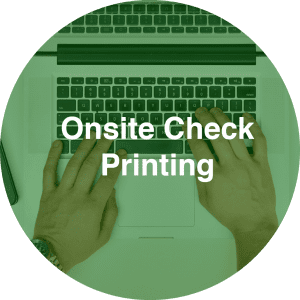 get onsite check printing options with precision payroll services inc new jersey